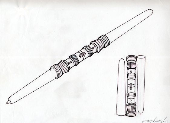 Darth Maul Lightsaber Drawing The Darth Maul Pen Was Also