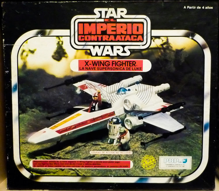 1977 Star Wars X Wing Fighter In Box: X-Wing Fighter (ESB Box, Dagobah Photo)