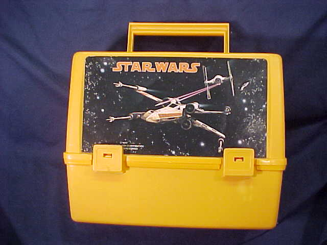 Plastic Lunch Box Orange plastic with sticker--Dogfight Art - Star Wars Collectors Archive : star wars lunch box - Aboutintivar.Com
