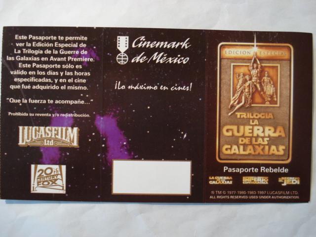 Ingot Art Ticket With Cinemark De Mexico Logo