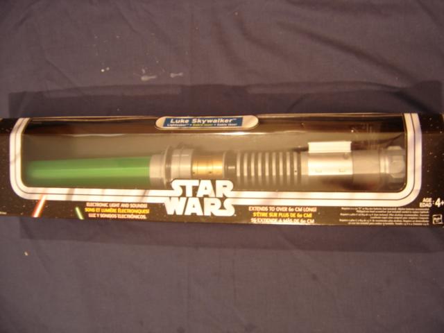 Luke Skywalker Electronic Lightsaber Otc Box Star Wars Collectors Archive