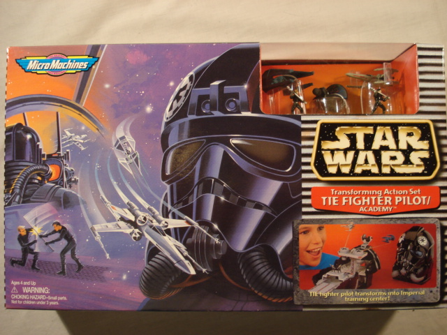 Star Wars Tie Fighter Pilot//Academy Transforming Action Set by MicroMachines NEW