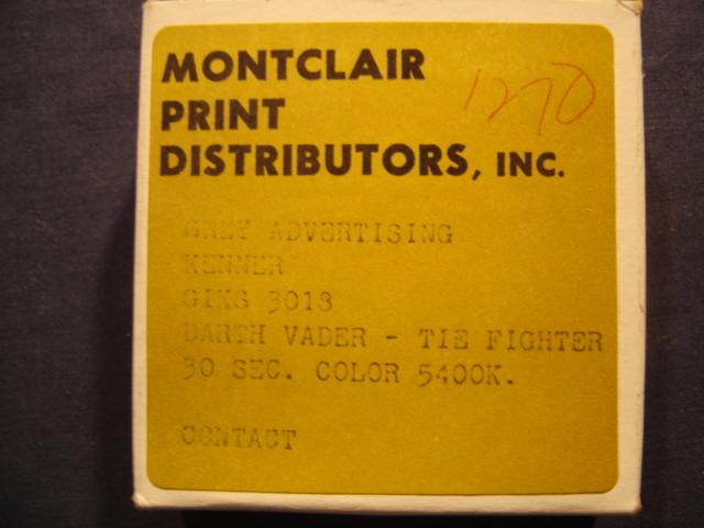 Darth Vader TIE Fighter #1 Kenner 16mm TV Commercial - Star