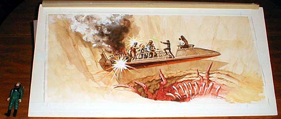Original Artwork for the Parker Brothers Battle At Sarlacc's