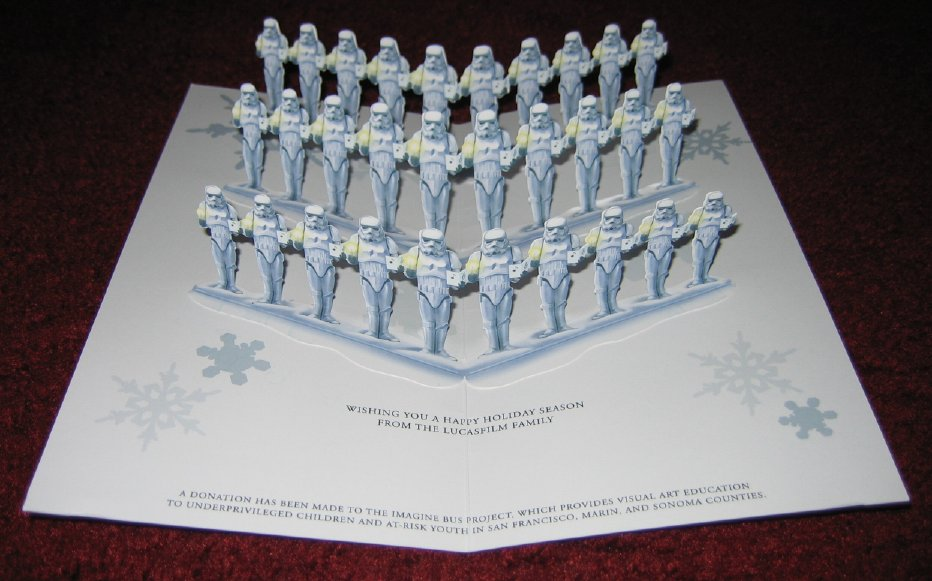 2007 Lucas Companies (Pop-Up Caroling Stormtroopers) Christmas Card ...