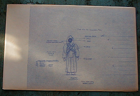 Jawa action figure blueprint and color specification sheet star jawa action figure blueprint and color specification sheet star wars collectors archive malvernweather Gallery