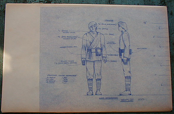 Luke skywalker action figure blueprint and color specification sheet luke skywalker action figure blueprint and color specification sheet star wars collectors archive malvernweather Gallery