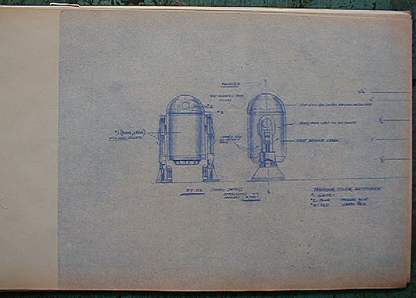 Original Action Figure Blueprint - R2-D2