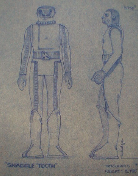 Original Action Figure Blueprint - Blue Snaggletooth