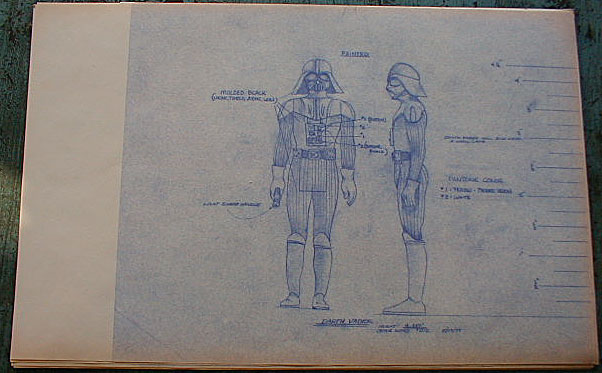 Original action figure blueprint darth vader original action figure blueprint darth vader the blueprint you see here was part of an incredible find of pre production material relating to the design malvernweather Images