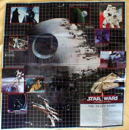 Kenner POTF Planetary Map Death Stars 1985