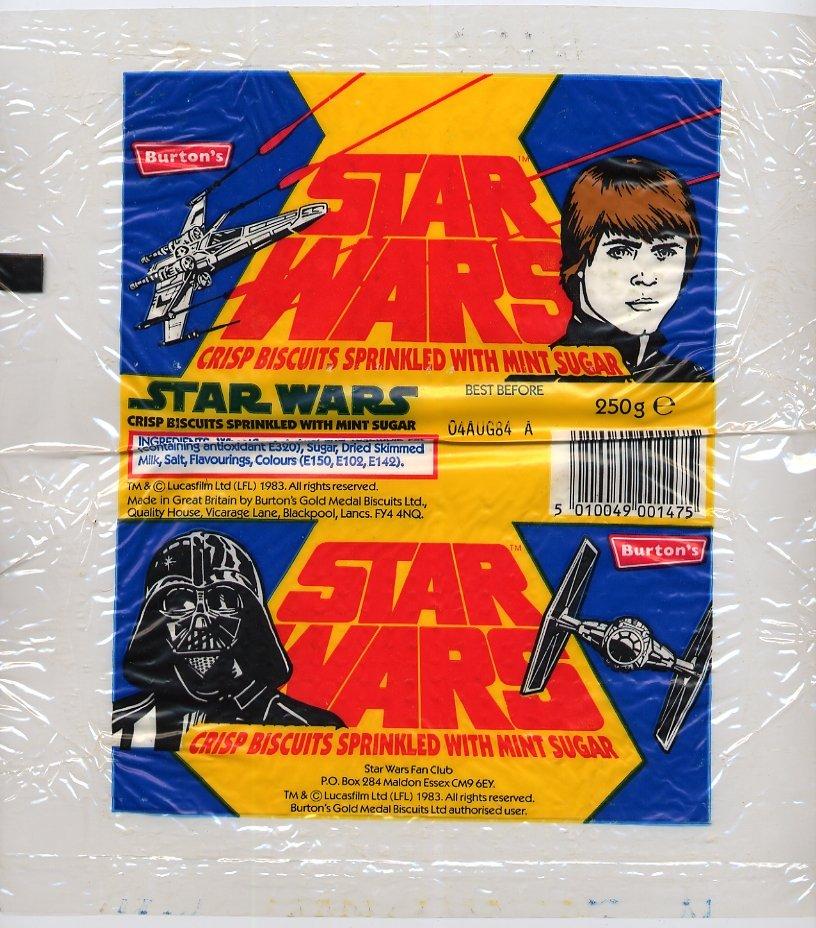 Biscuits (Cookies) Wrapper (Luke/Darth Vader Line Art) - Star Wars ... Darthvader