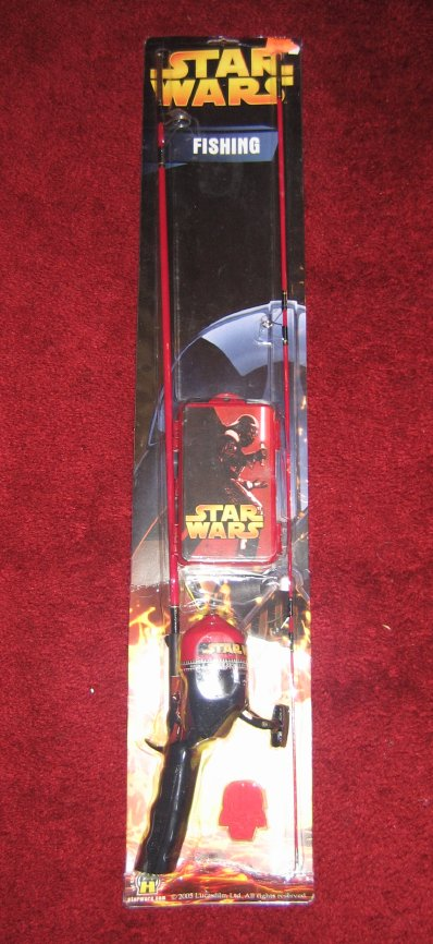 fishing pole darth vader with saber star wars
