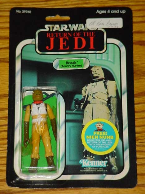 Return Of The Jedi 48 Back Bossk Carded Quality Control