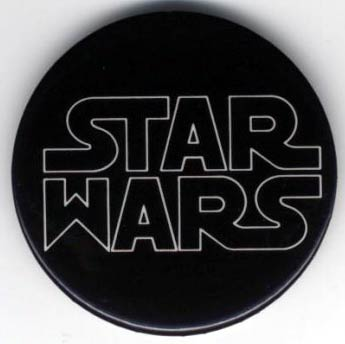 Who invented the Star wars logo? for the movie or the toys! Button