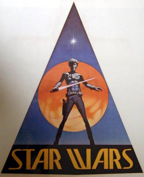 Who invented the Star wars logo? for the movie or the toys! Shirt
